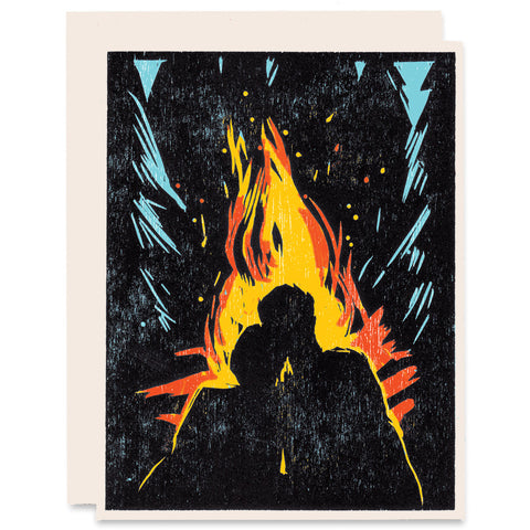 Mine Burns For You </h6>Indigo Printed Card