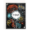 Fireworks For You Indigo Printed Card