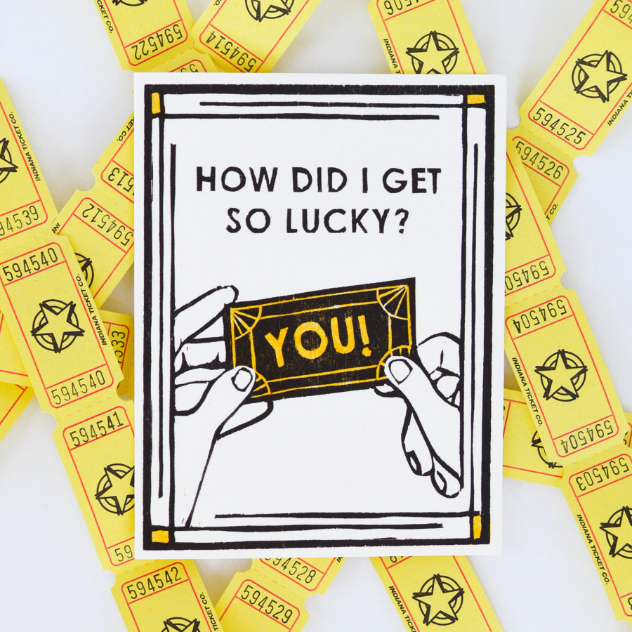 Lucky Ticket Folded Card