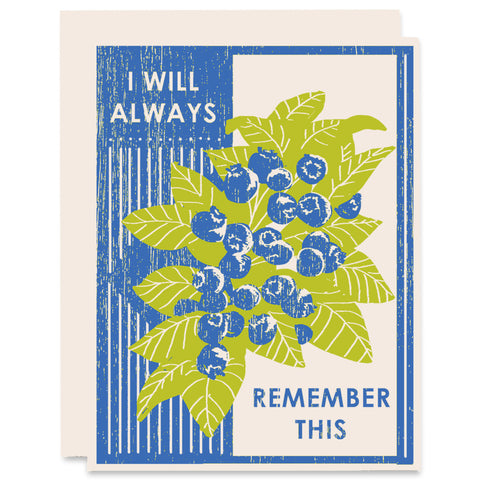 Always Remember This Letterpress Card