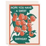 Sweet Birthday </h6>Letterpress Card