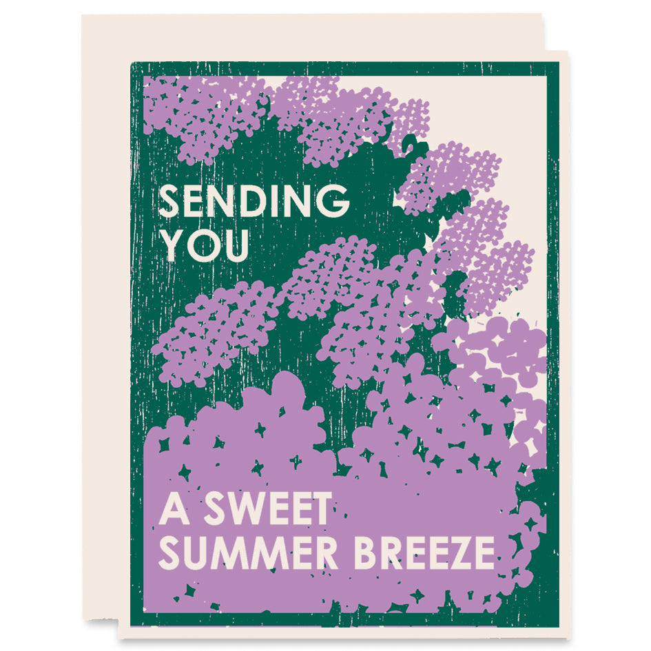 Sweet Summer Breeze Letterpress Card