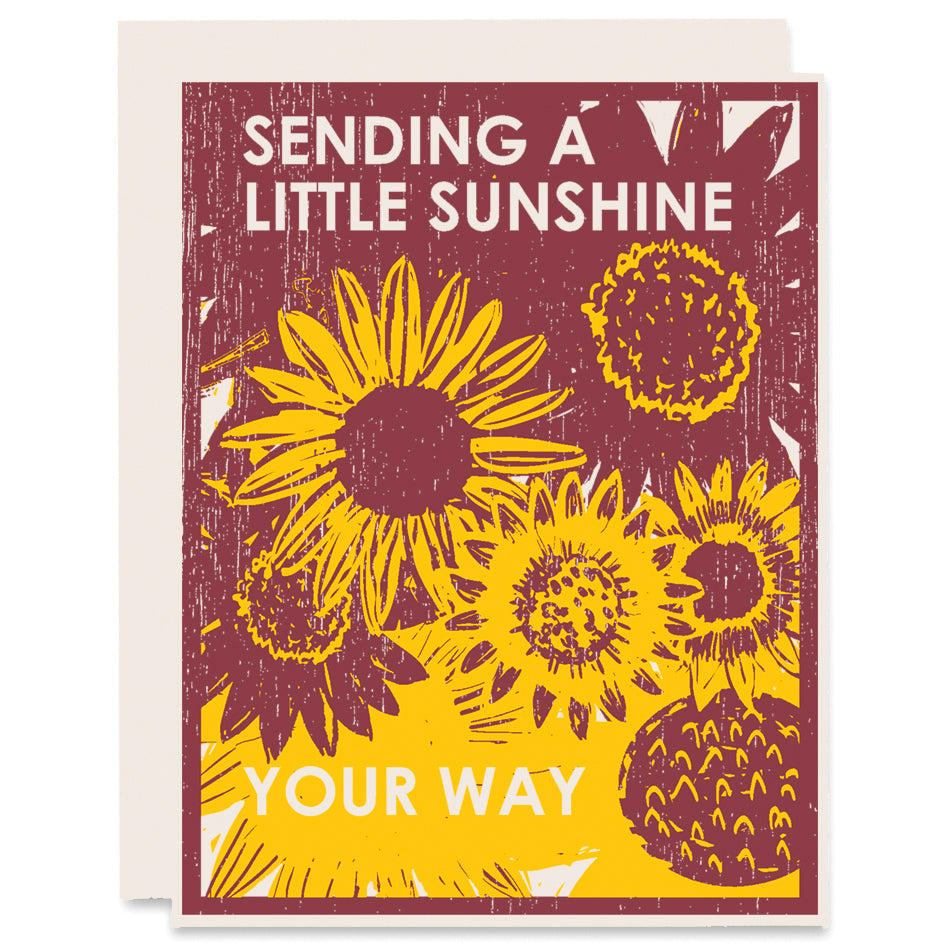 Sunshine For You Letterpress Card