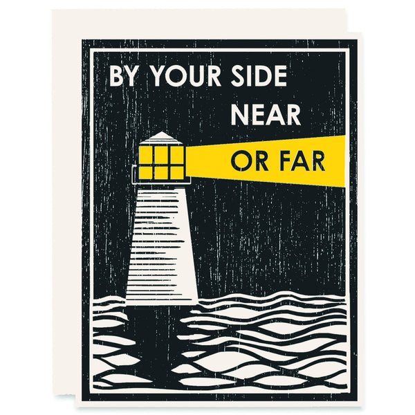 Near Or Far Letterpress Card