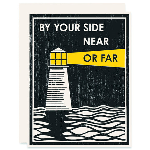 Near Or Far </h6>Letterpress Card