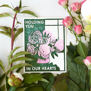 Holding You In Our Hearts Letterpress Card