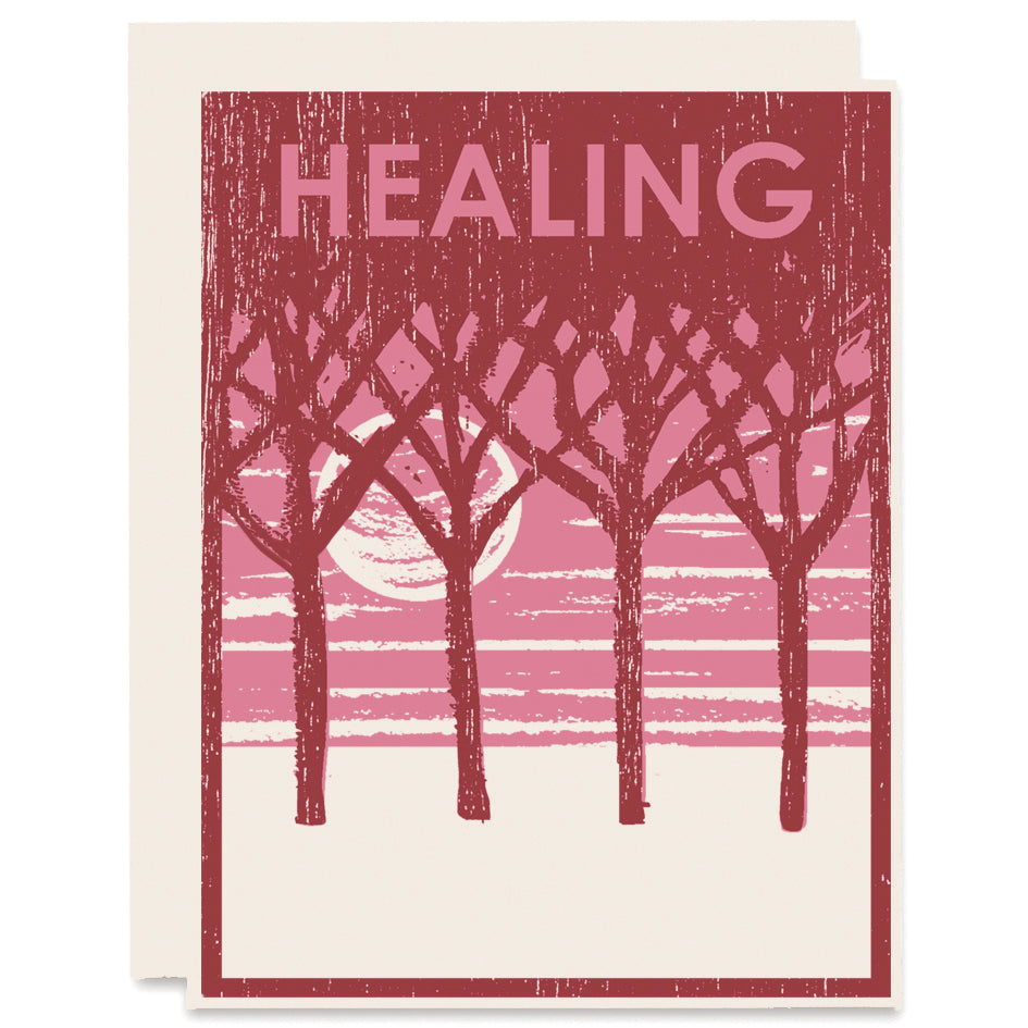 Healing Moon Letterpress Card