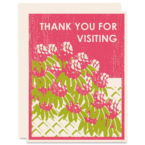 Thank You For Visiting Letterpress Card