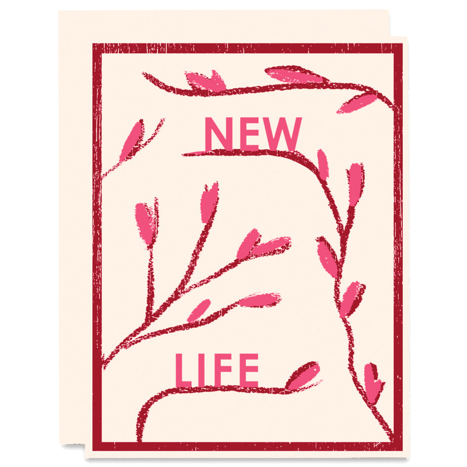 New Life Letterpress Card
