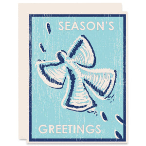 Snow Angel Letterpress Card