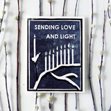 Love And Light Letterpress Card