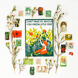 Watch You Grow Letterpress Card