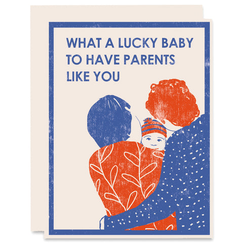 Lucky Baby Letterpress Card