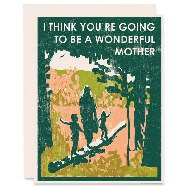 Wonderful Mother Letterpress Card