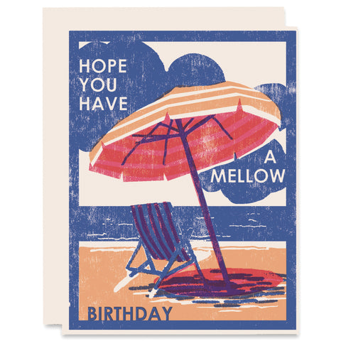 Mellow Birthday Letterpress Card