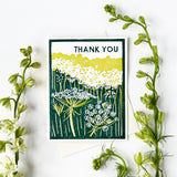 Thank You (Queen Anne's Lace) Letterpress Card