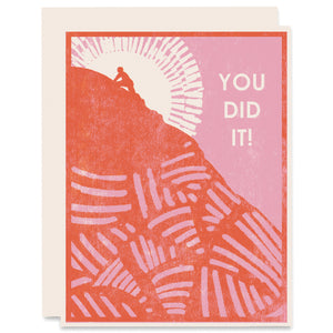 You Did It Letterpress Card