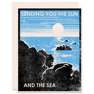 Sending You the Sun and the Sea Letterpress Card