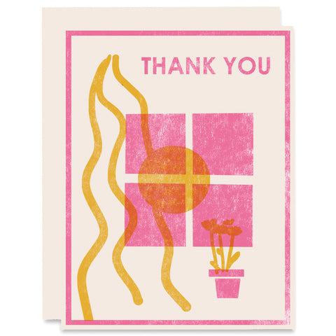 Thank You Window Letterpress Card