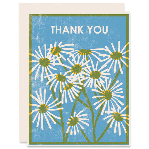Thank You Daisies Letterpress Card