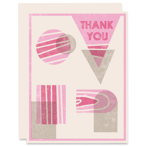 Thank You Shapes Letterpress Card