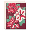 Poinsettias Letterpress Card