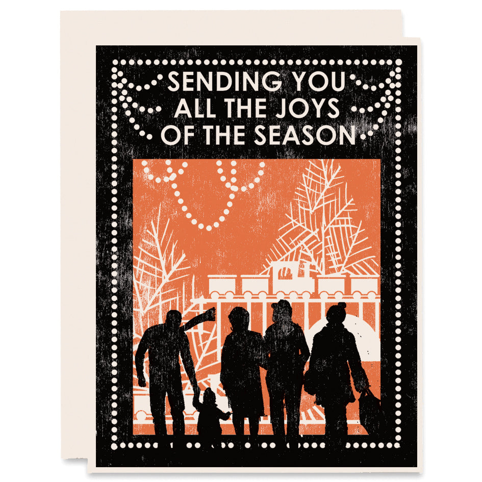 Joys of the Season Letterpress Card