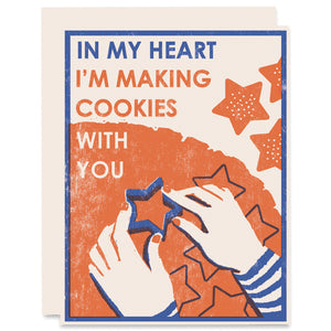 In My Heart I'm Making Cookies Letterpress Card