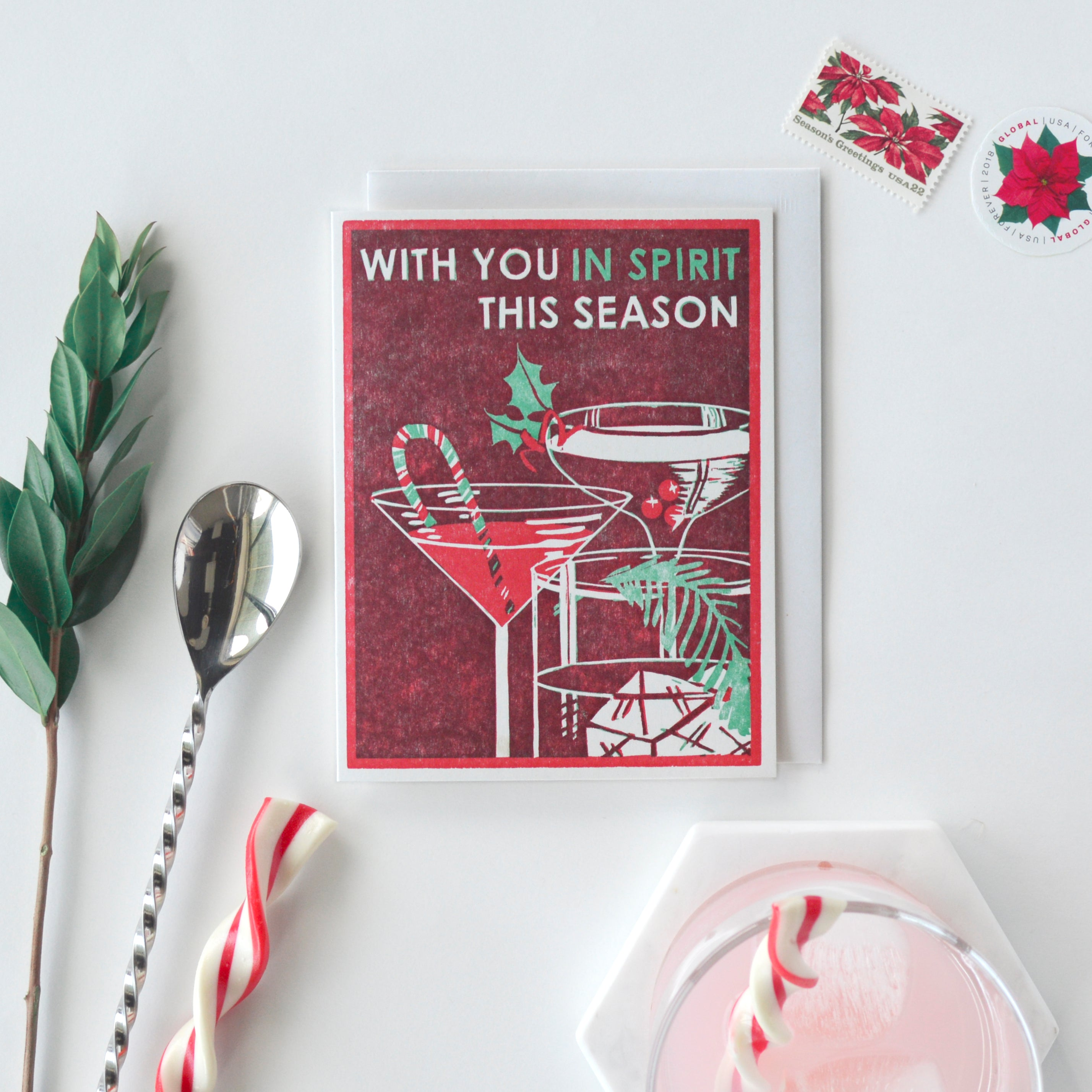 With You In Spirit Letterpress Card