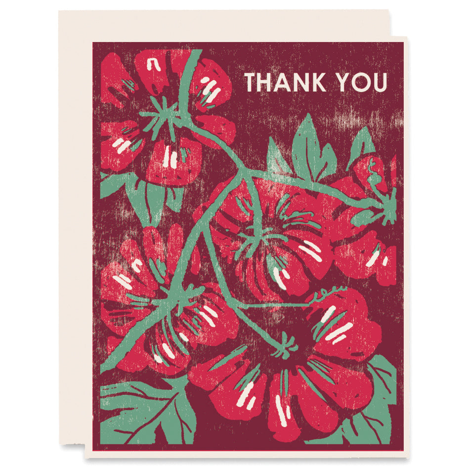Thank You (Tomatoes) Letterpress Card
