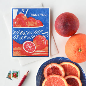Thank You (Blood Oranges) Letterpress Card
