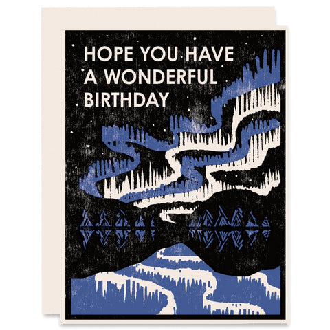 Wonderful Birthday Letterpress Card
