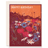 Happy Birthday (Wildflowers) Letterpress Card