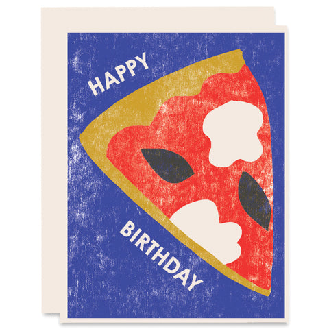 Birthday Pizza Letterpress Card