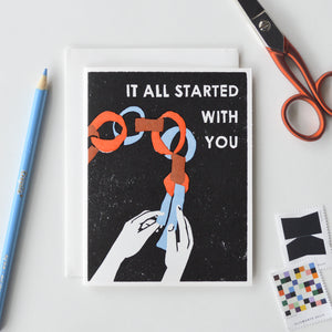 It All Started With You Letterpress Card