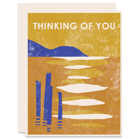 Thinking of You (Lake) Letterpress Card