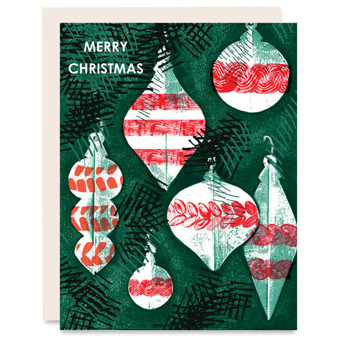 Merry Christmas Indigo Printed Card