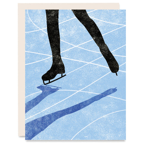 Ice Skater Indigo Printed Card