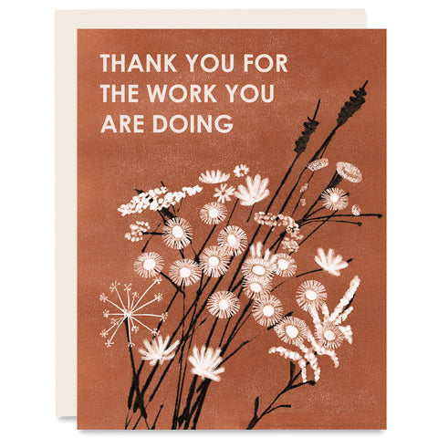 Thank You for the Work Indigo Printed Card