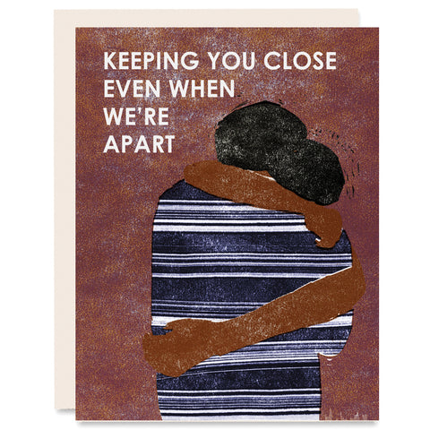 Keeping You Close Indigo Printed Card