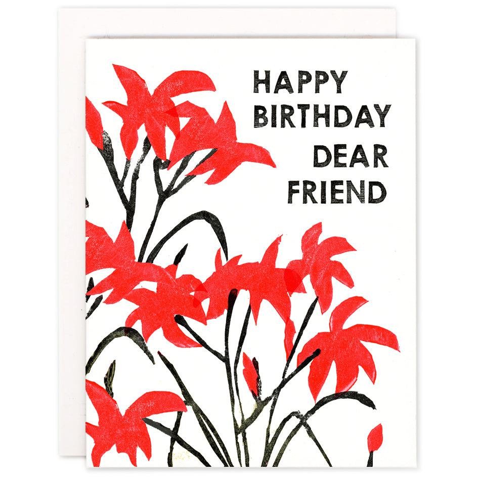 Happy Birthday Dear Friend Card