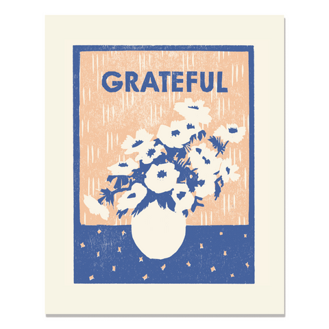 Grateful for Anemones Art Print