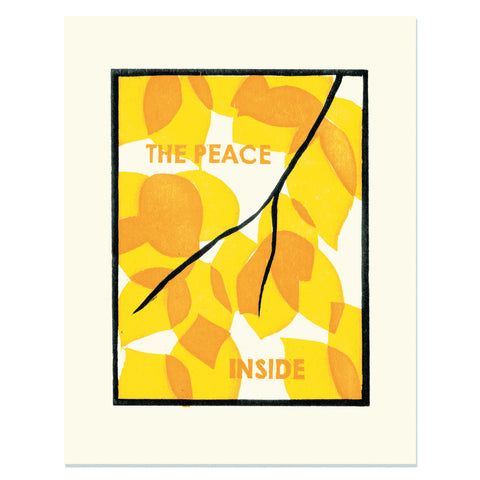 The Peace Inside </h6>Art Print