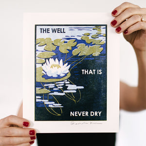 The Well Letterpress Art Print