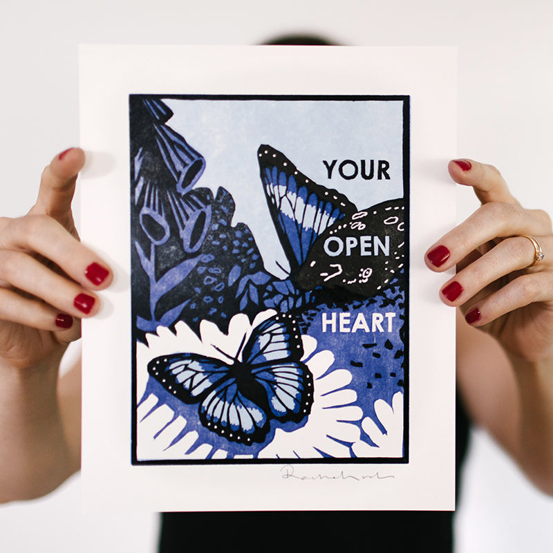Your Open Heart Letterpress Art Print