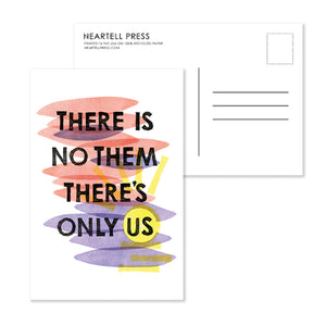 There Is No Them Postcard