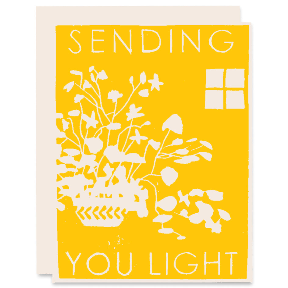 Sending You Light Letterpress Card