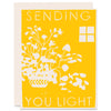 Sending You Light </h6>Letterpress Card