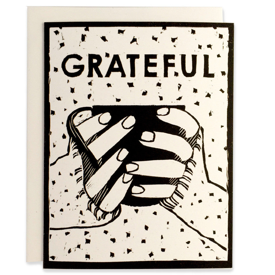 Grateful Cup Indigo Printed Card