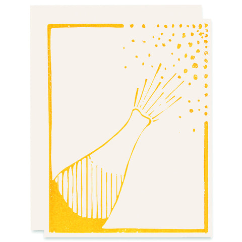Champagne Pop </h6>Letterpress Card